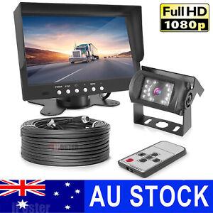 "4PIN 1080P Rear View Kit 7"" Monitor Heavy Duty IR Reversing Camera 12v 24v Truck"