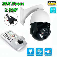20xZoom 1080P 2.0MP PTZ IP Dome Speed Camera Outdoor+Network Keyboard Controller
