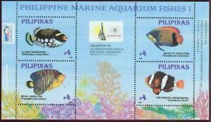 Philippines #2463e (Indonesia 96) Aquarium Fish sheet (Never Hinged) cv$5.25