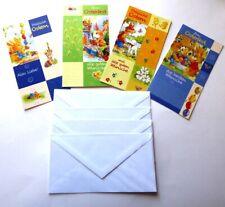 4 schöne Osterkarten Set geprägt Karte Grußkarte Ostern schreiben Ostergruesse