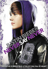 Justin Bieber ~ Never Say Never ~ DVD ~ FREE Shipping Within USA