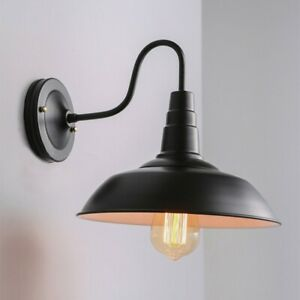 E27 Industrial LED Wall Light Lampshade Wall Mount Lamp Light Cover Fixture New
