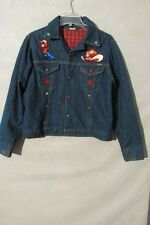 V7141 Osh Kosh Denim Cowboy Sequined USA Made Metal Snap Up Jacket Men's 40