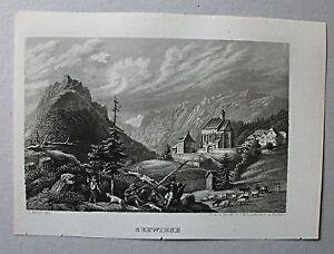 Turnau, Seewiesen, Steiermark - Stahlstich Mayer / Leidhecker 1847