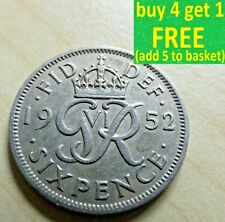 More details for george vi sixpence 6d coins choose your date from 1937-1952