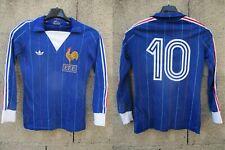Maillot Equipe de FRANCE Adidas shirt PLATINI Mundial 1982 VENTEX shirt vintage