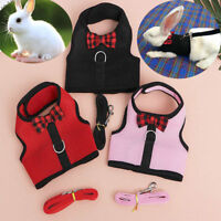 Cute Animal Harness Guinea Pig Forret Hamster Rabbit Squirrel Vest Clothes Lead