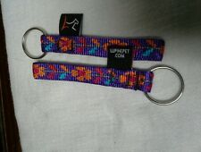 """Lupinepet 1/2"""" Multi Fabric Pattern Keychains. Made in USA!"""