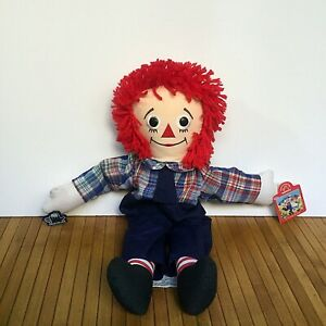 """Vintage Applause Raggedy And Anne 1991 - Stuffed Animal Plush Toy 40cm/16"""""""