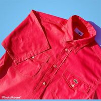 """Made In France Mens Vintage Chemise Lacoste Short Sleeved Shirt Size 40 P2P 21"""""""