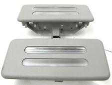 2008-2010 BMW 535xi 528 E60 OEM INTERIOR MIRROR SUN VISOR LIGHT LAMP SET PAIR
