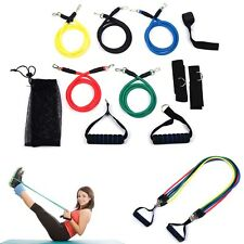 11X Resistance Bands Ankle Strap Yoga Pilates Abs Fitness Workout Tubes Training