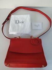 Christian Dior Borsa Tracolla Rosso Con Fodera Rosa E Oro Hardware