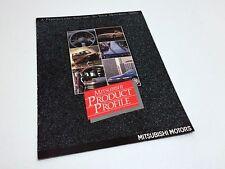 1990 Mitsubishi Mirage Galant Sigma Eclipse Wagon Montero Profile Brochure