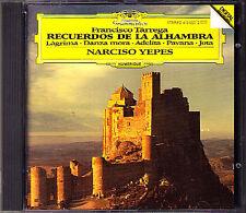 NARCISO YEPES: Tarrega Recuerdos de la Alhambra Jota Sueno CD guitar GUITARE