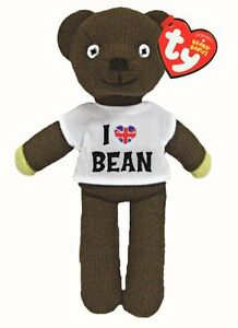 TY BEANIE MR BEAN TEDDY  WITH I LOVE BEAN T/SHIRT SOFT TOY 9 INCH NEW GIFT 46204