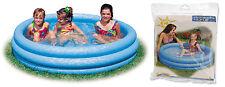 INTEX 3 Anelli Crystal Blue Piscina per Bambini ragazzi Piscina Piscina per bambini gioco