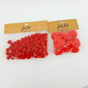 "Fab Lab Craft Pom Pom 100 .5"" and 16 1"" DIY Fuzzy Balls for Creative Minds Decor"