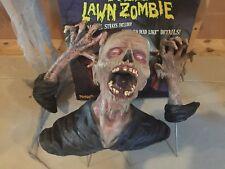 Spirit Halloween 3 Piece Lawn Zombie Prop - with box not animatronic