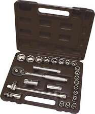 "25 Piece 1/2"" Drive Metric Socket Set Carbon Steel Heat Treated Hilka 01202502"