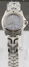 Ladies Tag Heuer Link Blue Pearl Swiss Quartz Date 27mm Watch WT141G.BA0560