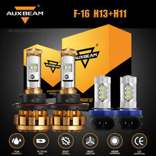 4X AUXBEAM H13 F-16 LED Headlight+H11 Foglight Combo for Jeep Renegade 2015-2020