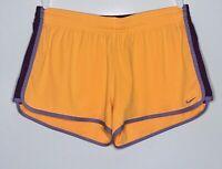 Nike Dri-Fit Women's Running Athletic Shorts Orange/Purple Sz L