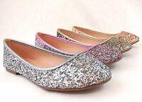 Women Fashion Glitter Dress Flat Shoes Brilliant Sequin Cute Design New Style