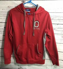 Ohio State Buckeyes Campus Heritage Apparel/Large Zip up W/Hood Jacket Red Guc