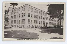 Aulsbrook & Jones Furniture Factory STURGIS MI Vintage Michigan Postcard