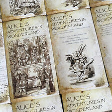 Lots 20 pcs Bulk Alice's Adventures in Wonderland Postcard Book Illustration