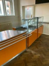 More details for large ban marie with a separate cold display unit and preparation table.