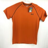 Under Armour Mens Orange Short Sleeve Loose Heat Gear Shirt