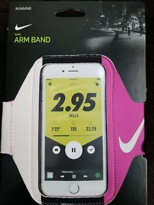 New Nike Lean Running Phone Arm Band Pink Unisex Fits Most Smartphone