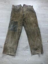 ancien pantalon velours travail paysan rapiécé epais côtelé Alphonse LAFONT Lyon