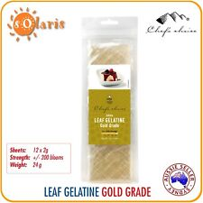 12 X 2g Leaf Gelatine Sheets Gold Grade 200 Bloom Strength Made in Germany
