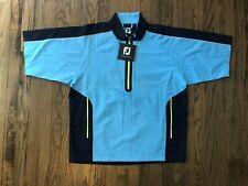 NWT FJ FootJoy Tour Golf Mens Half Zip Golf Windbreaker Pullover Jacket Size L