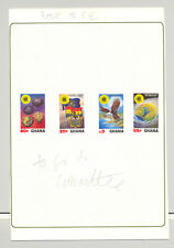 Ghana #822-825 Commonwealth Day 4v Imperf Proofs Mounted on Card