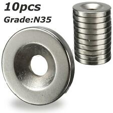 10Pcs Strong 20 x 3MM Magnet Rare Earth Neodymium N35 Magnets Disc 5mm Hole