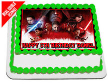 Star Wars The Last Jedi Edible Icing Image Cake Topper Party Decoration