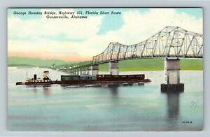 Guntersville AL-Alabama, George Houston Bridge, Highway 431, Chrome Postcard