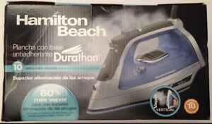 Hamilton Beach Duration Nonstick Soleplate Iron - Model 19802 w/ Wrinkle Removal
