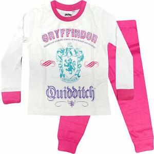 NEW Girls Cotton Pink 'Harry Potter Gryffindor' Pyjamas 3-10 years