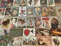 Lot of 100 Holiday Greetings Post Cards, Christmas, Easter, Thanksgiving,etc.-44