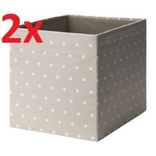 2x IKEA DRONA Storage Box Basket Cube Toy Socks Organiser Beige for KALLAX Shelf