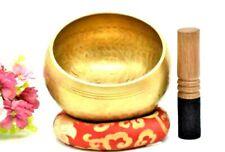 More details for tibetan singing bowl meditation sound copper crafted buddhism chakra yoga
