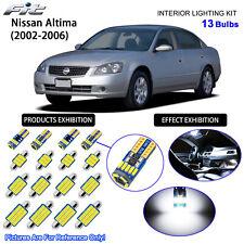 13 Blubs LED Interior Light Kit Cool White For 2002-2006 Nissan Altima (Sunroof)