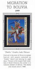 Japan 1999 Migration To Bolivia NH Scott 2675 Diablo, Condor, Lake Titicaca