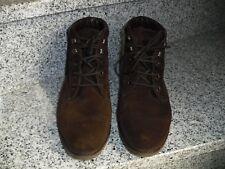 Salamander Boots Schnürstiefeletten Wildleder Braun Gefüttert Gr.41,5 /U 7,5 F
