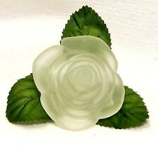 Valentine~2001~Old World CHRISTmas~Clear Rose~Blown Glass Light Cover~Taiwan